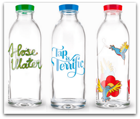 Faucet Face Glass Water Bottle Giveaway